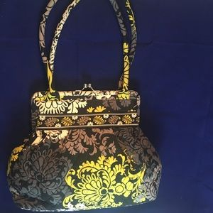 VERA BRADLEY Baroque Kiss Lock Handbag